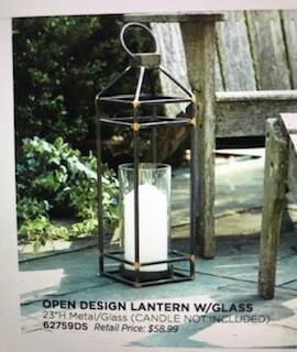 "Home decor by Melrose/open design lantern/23"""