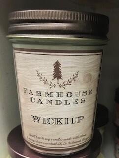 Farmhouse candle/small jar/Wickiup