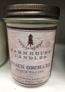 Farmhouse Candle/Made in Oregon/Peach Orchard /Small jar