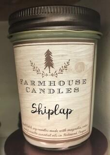 Farmhouse candle/made in Oregon/shiplap scent/sm jar