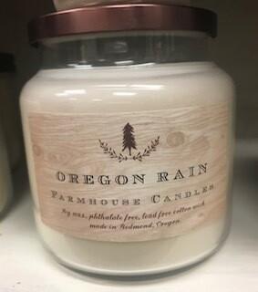 Farmhouse candle/made in Oregon/Oregon rain scent/lg. jar