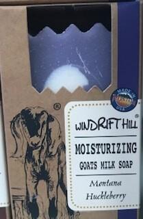 Windrift Hill/goats milk soap/montana huckleberry