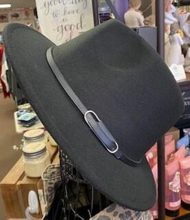 Apparel/Black felt hat