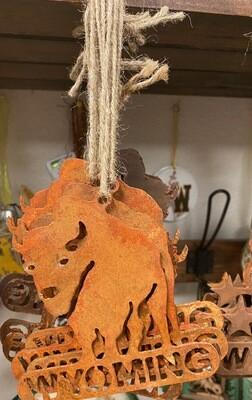 Home Decor/Rustic Metal/Buffalo/Wyoming ornament