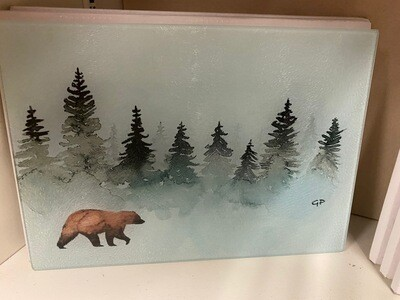 Cutting board/rectangle/brown bear