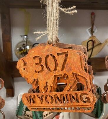 Home Decor/Rustic Metal/Buffalo/307/Wyoming ornament