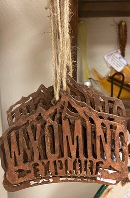 Home Decor/Rustic Metal Wyoming Explore ornament