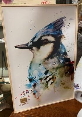 wall art/canvas/blue jay/8x12