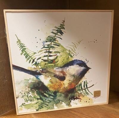 Wall Art/canvas/bird/fern/10x10