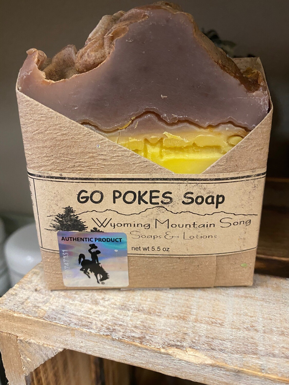 Wyoming Mountain Song soap/Go Pokes