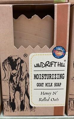 Windrift Hill/goats milk soap/honey n rolled oats
