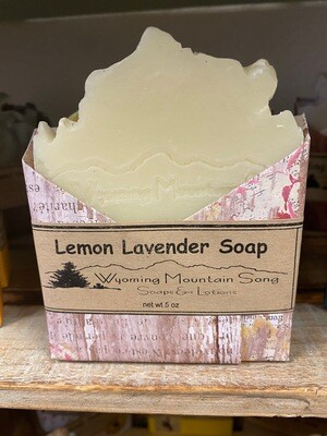 Wyoming Mountain Song soap/lemon lavender