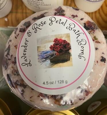 Land of Lavender/lavender and rose bath bomb