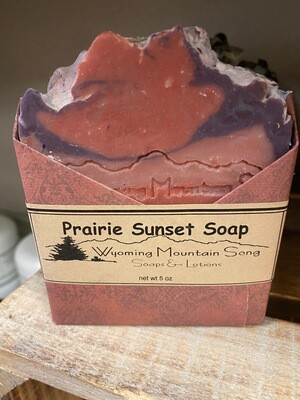 Wyoming Mountain Song soap, prairie sunset