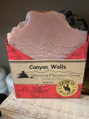 Wyoming Mountain Song soap/Canyon Walls