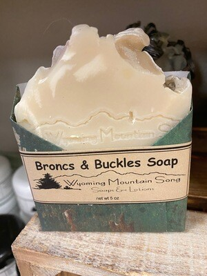 Wyoming Mountain Song soap/broncs & buckles
