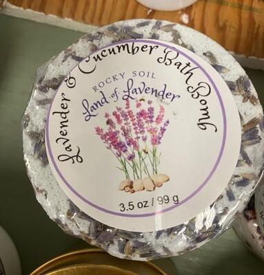 Land of Lavender/lavender cucumber bath bomb