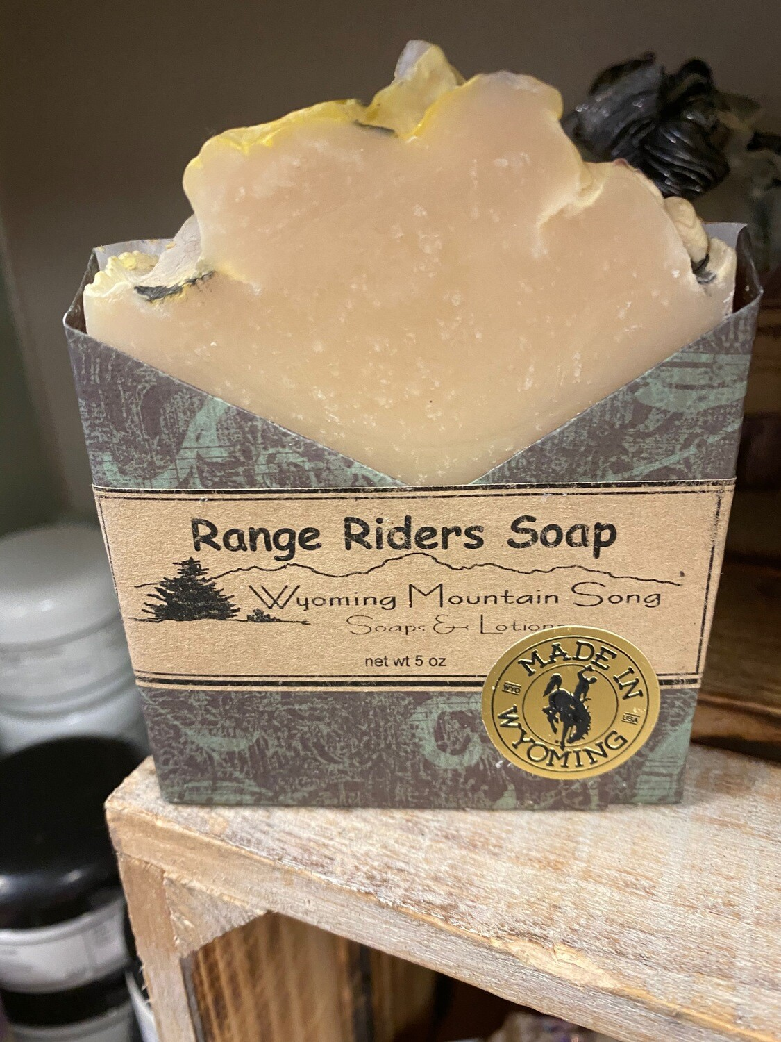 Wyoming Mountain Song soap, range riders
