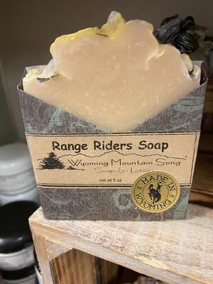 Wyoming Mountain Song soap, range riders