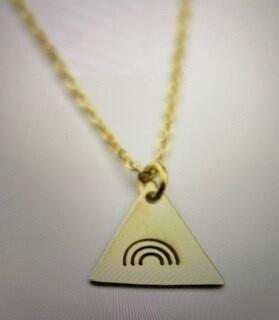 Jewelry/rainbow/gold necklace