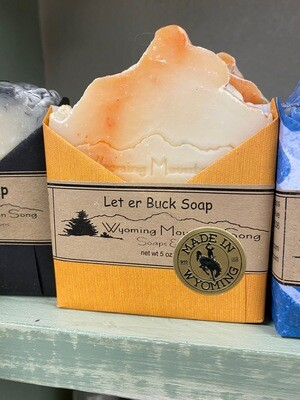 Wyoming Mountain Song soap/Let er Buck