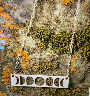 Jewelry/Made of Mountains/Moon Phases silver necklace