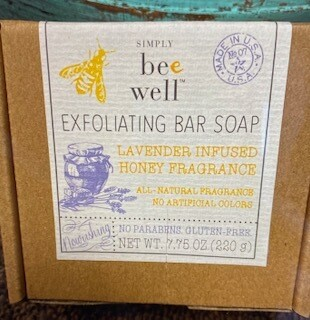 Simply Bee Well/Lavender infused honey/exfoliating soap