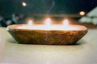 Woodfire/Dough Bowl candle/Rhubarb & Fig