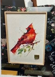 Home Decor/canvas cardinal wall art/10.25x8.25