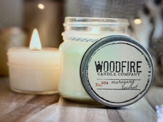 Woodfire Candle/8oz./Coffe Haus
