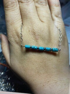 Jewelry/turquoise bar necklace