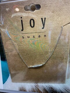 Jewelry/Joy Susan/silver feather dainty necklace