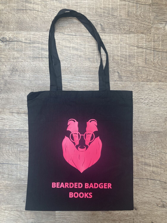 Tote Bag - Pink Logo on Black Bag!