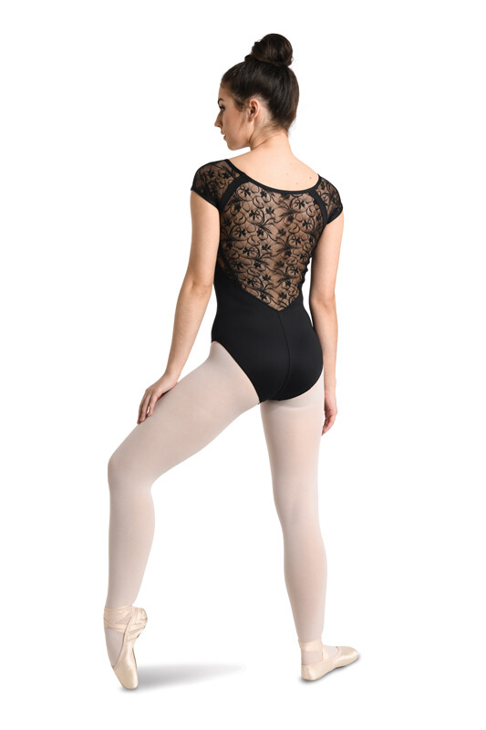 DAN 2737 V-NECK RAGLAN CAP SLEEVE LEOTARD