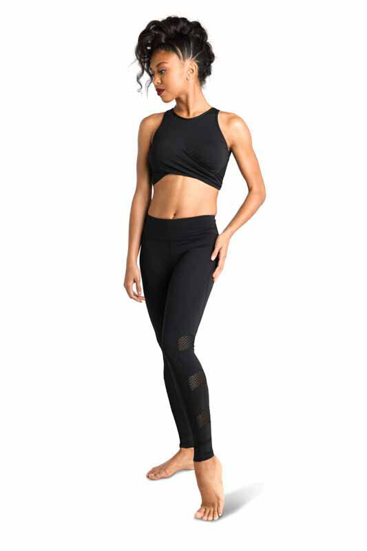 DAN 19300 Twist Front Mesh Top