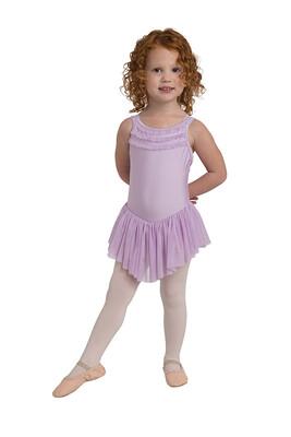 DAN 2715 Ruffle Trim Dress