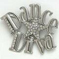 "DASHA 2601 ""Dance Diva"" Rhinestone Pin"
