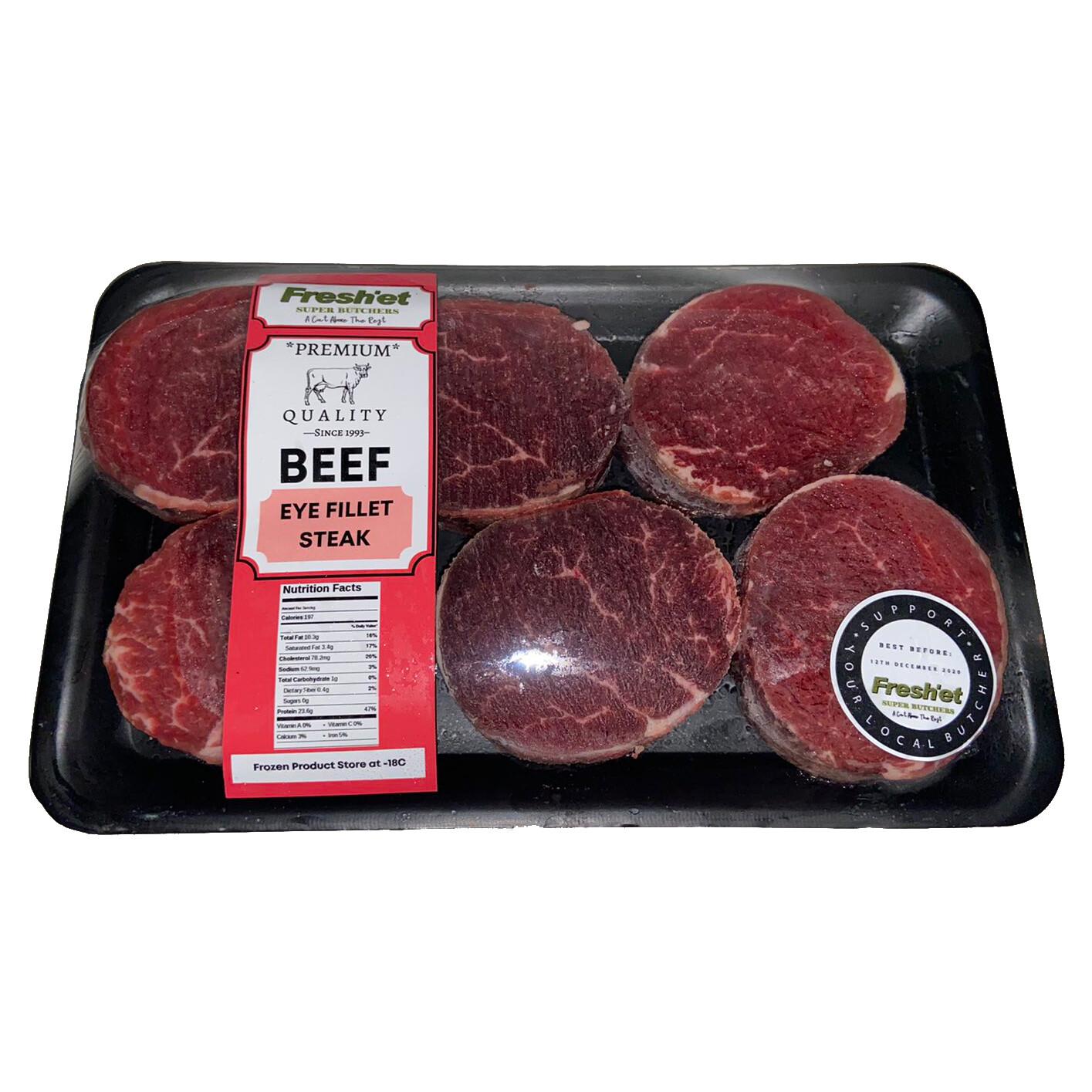 BEEF Eye Fillet Steak - 1kg