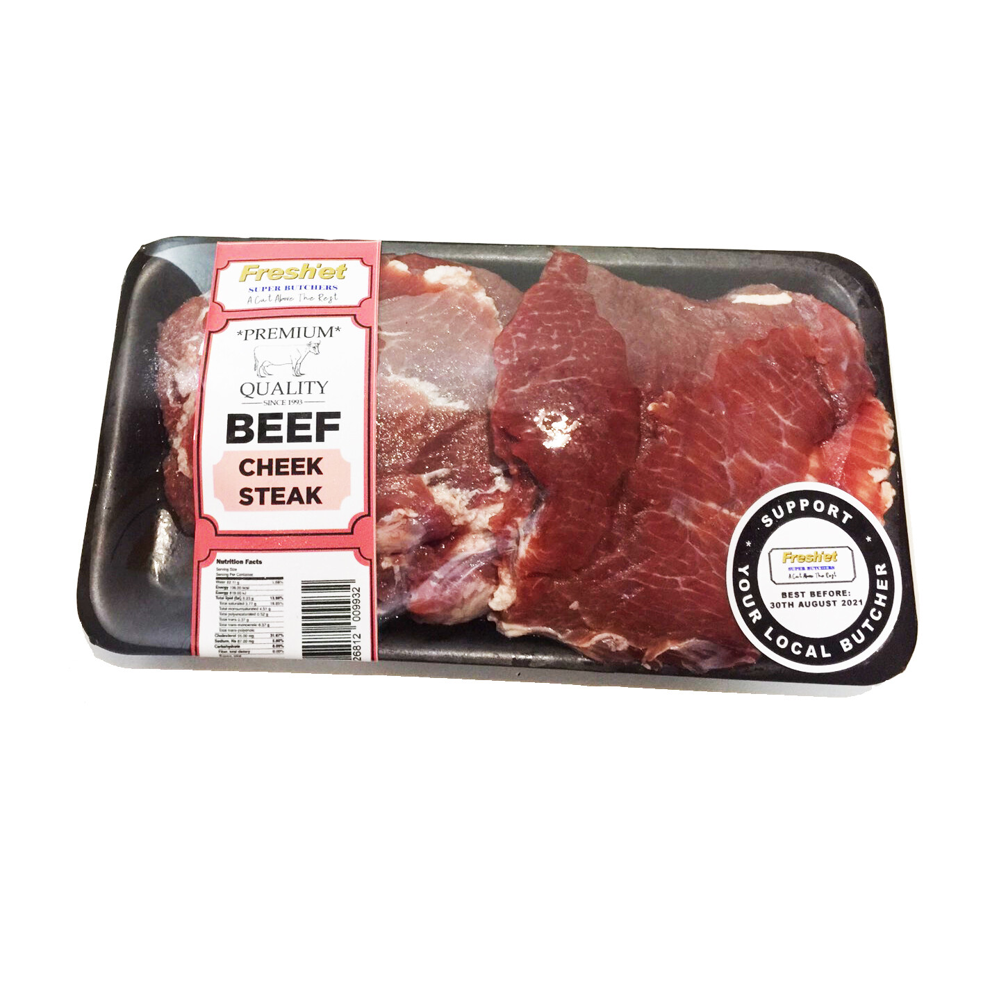BEEF Cheek Steak - 1kg