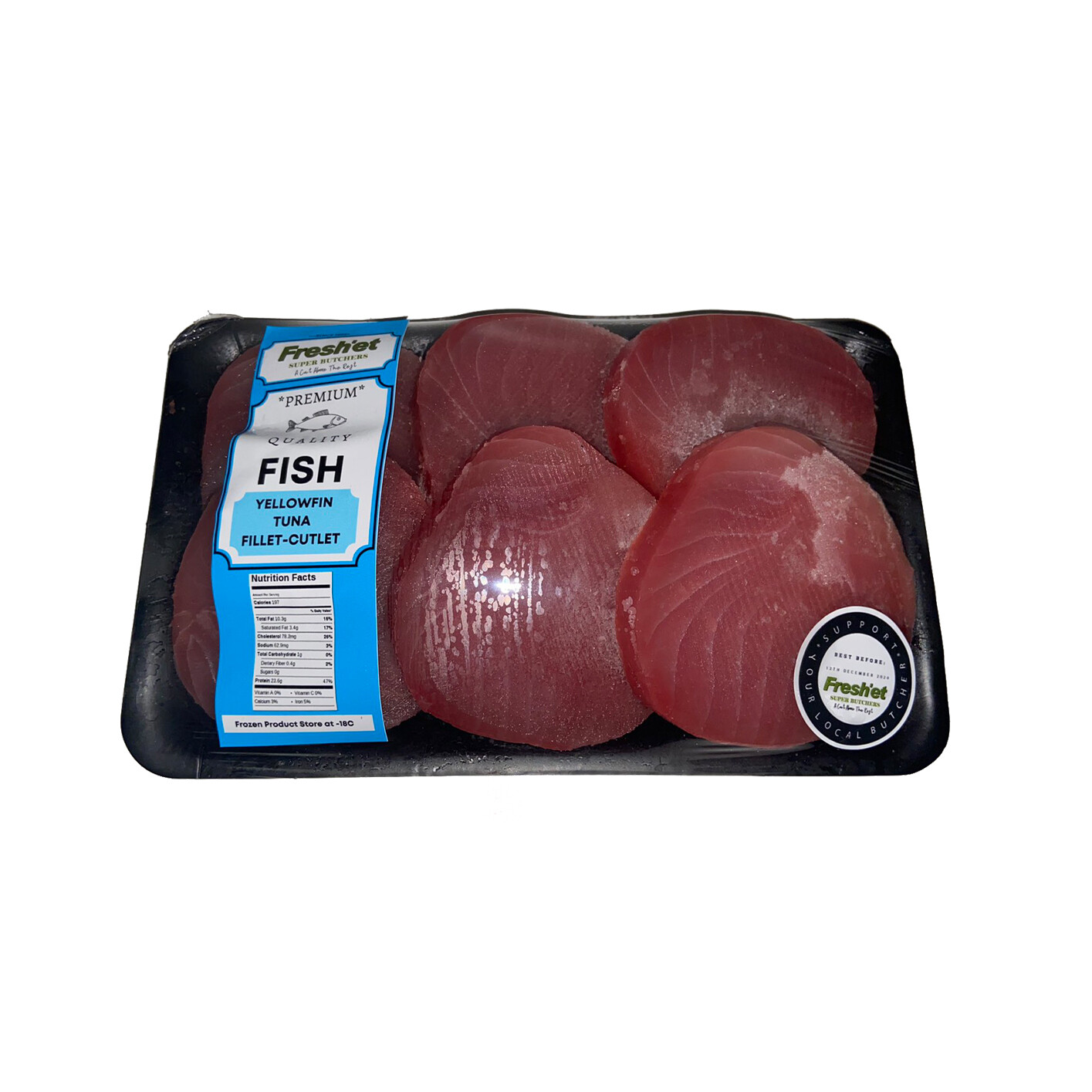 FISH Yellow Fin Tuna Fillet Cutlets - 1kg