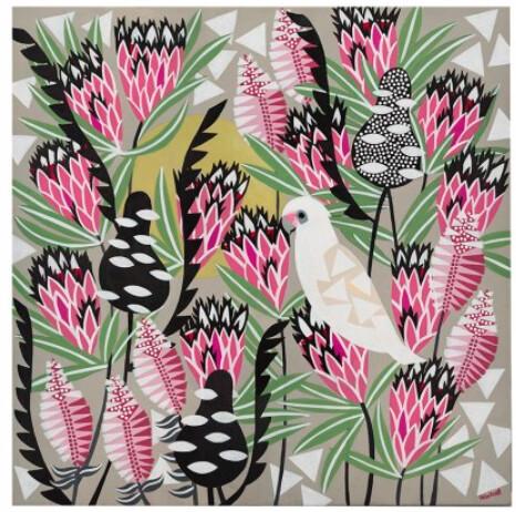 Pink Mink Corella Print by Helen Ansell