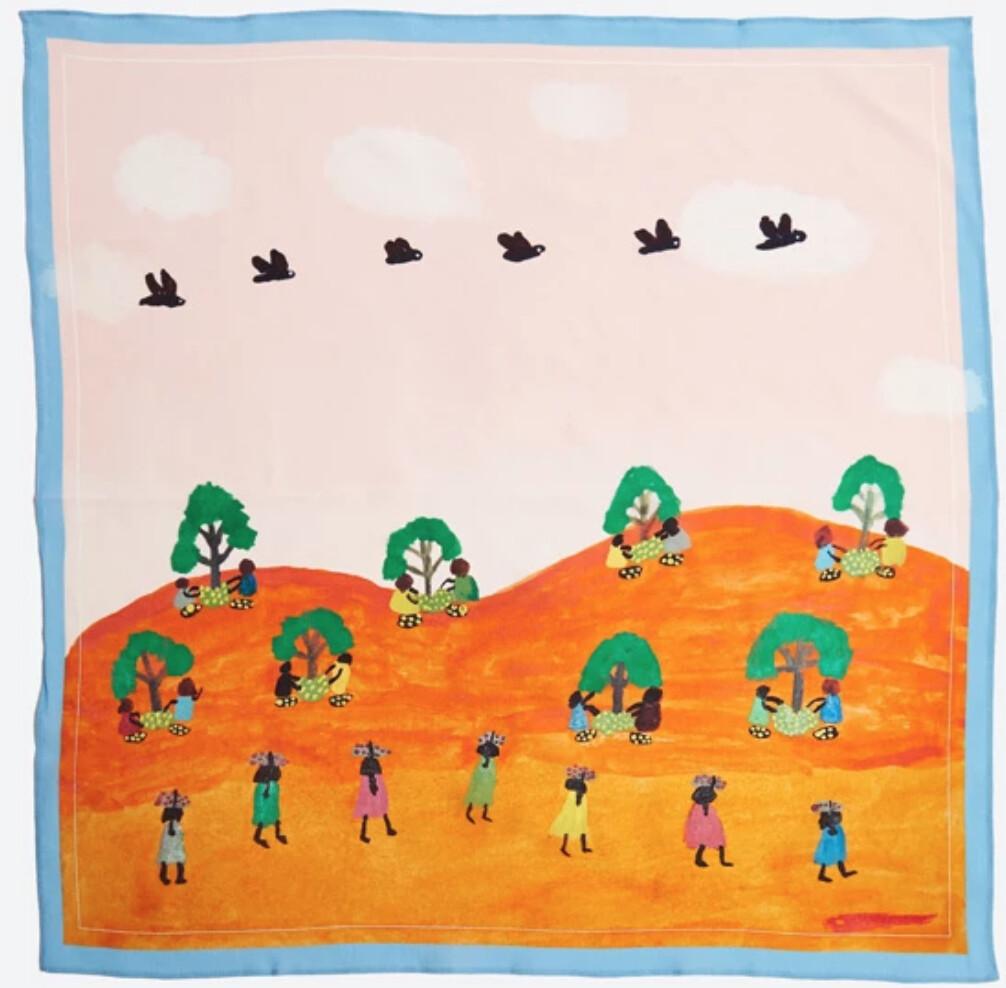 Silk Scarf by Tangentyere Artists