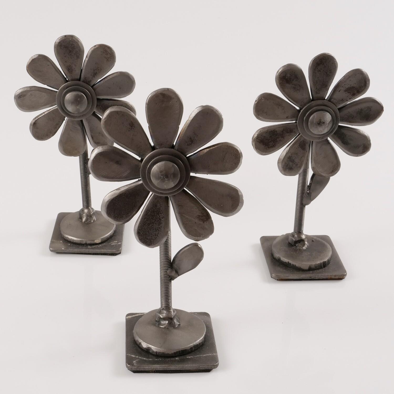 Steel Flower Sculpture - Single