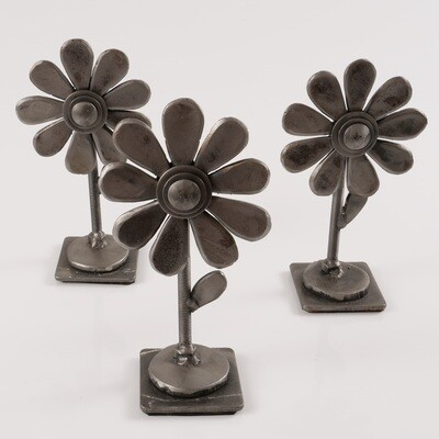 Steel Flower Sculpture - Single