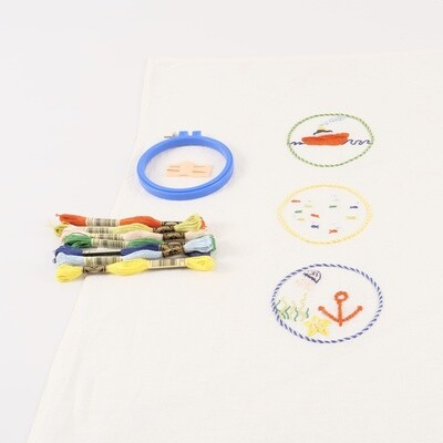 Tea Towel Embroidery Kit