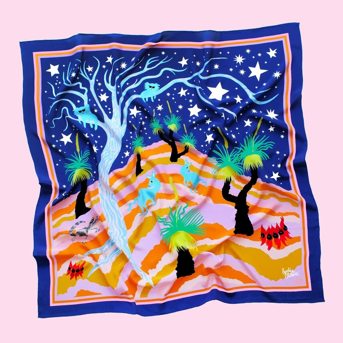 Julie White Scarf Into the Mystic