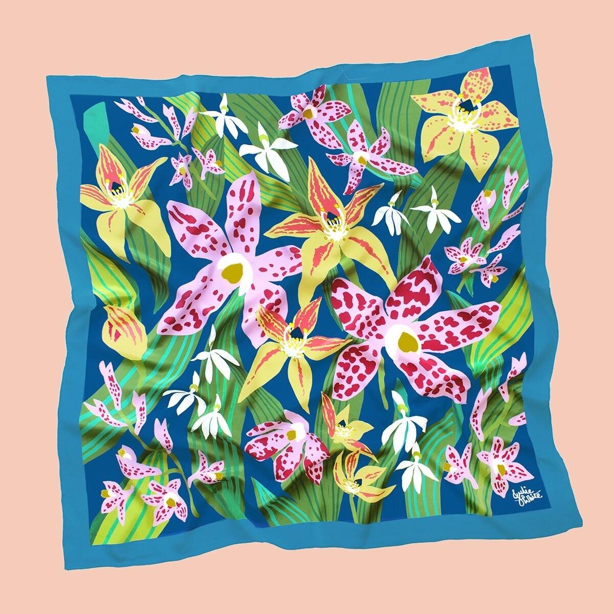Julie White Scarf Wild Orchid