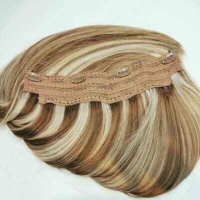 Clip in one Piece #8/60 kühler gesträhnter Blondton