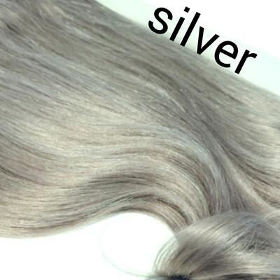 Clip in one Piece Farbe # silver