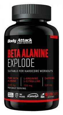 BODY ATTACK BETA ALANINE EXPLODE 120 CAPS